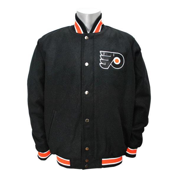 【リニューアル記念メガセール】NHL フライヤーズ ジャケット ブラック ジースリー/G-III Contender Wool ジャケット