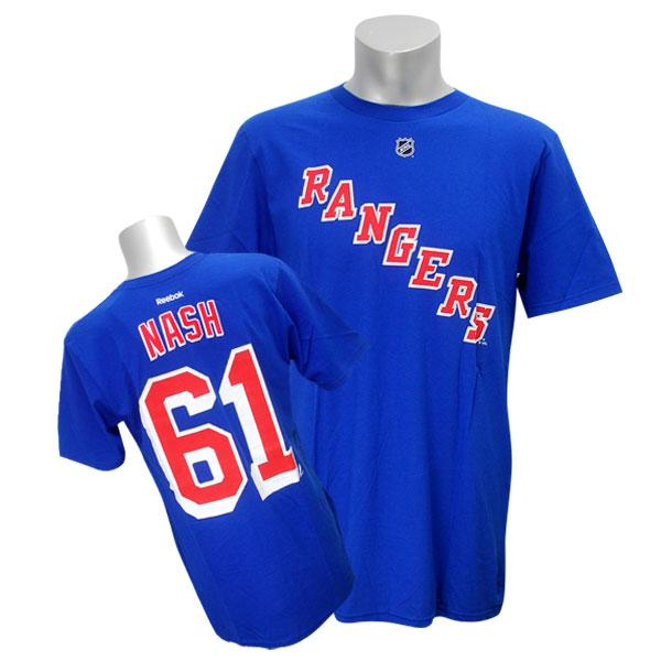 NHL レンジャース リック・ナッシュ Tシャツ ブルー リーボック Name&Number Tシャツ【1910価格変更】