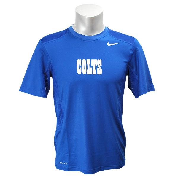 NFL コルツ Tシャツ ブルー ナイキ Dri-FIT Hypercool 2 Speed Performance Tシャツ