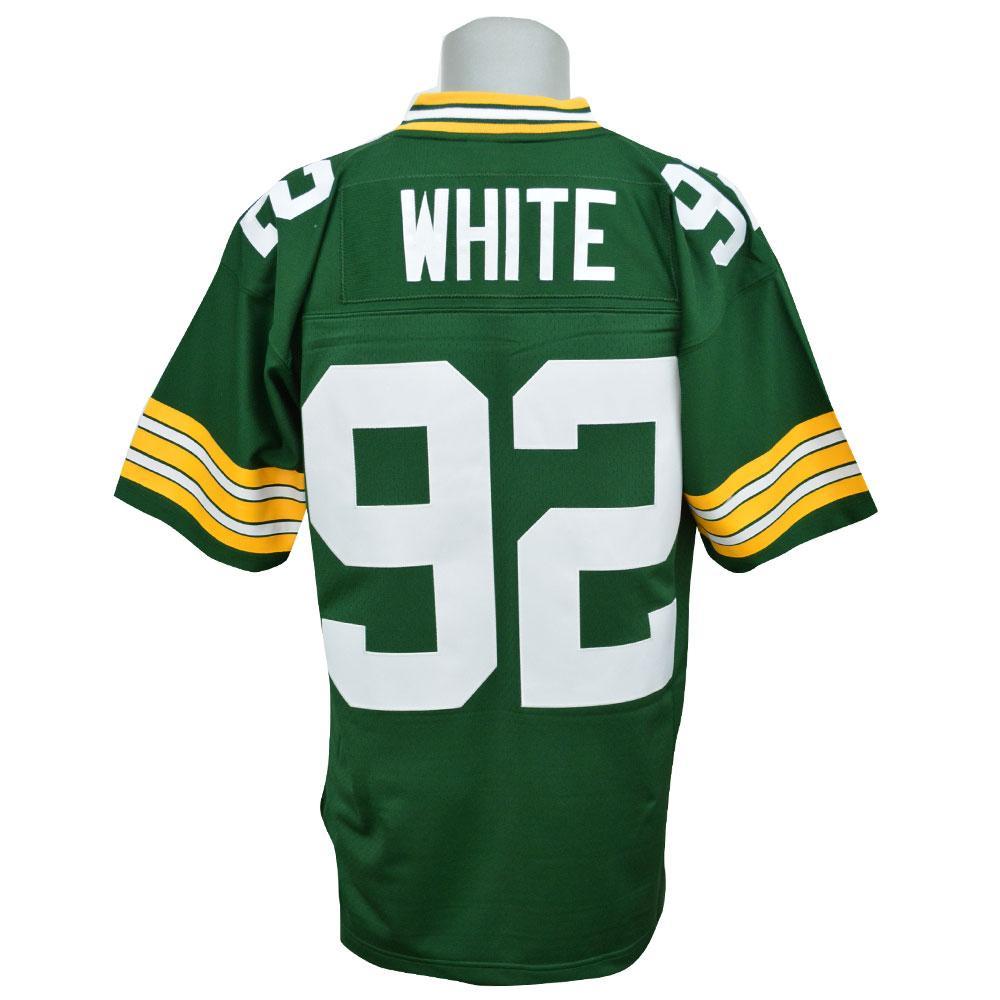 huge selection of 92784 900e3 NFL Packer Reggie white jerseys Trowback Replica jerseys Mitchell &Ness