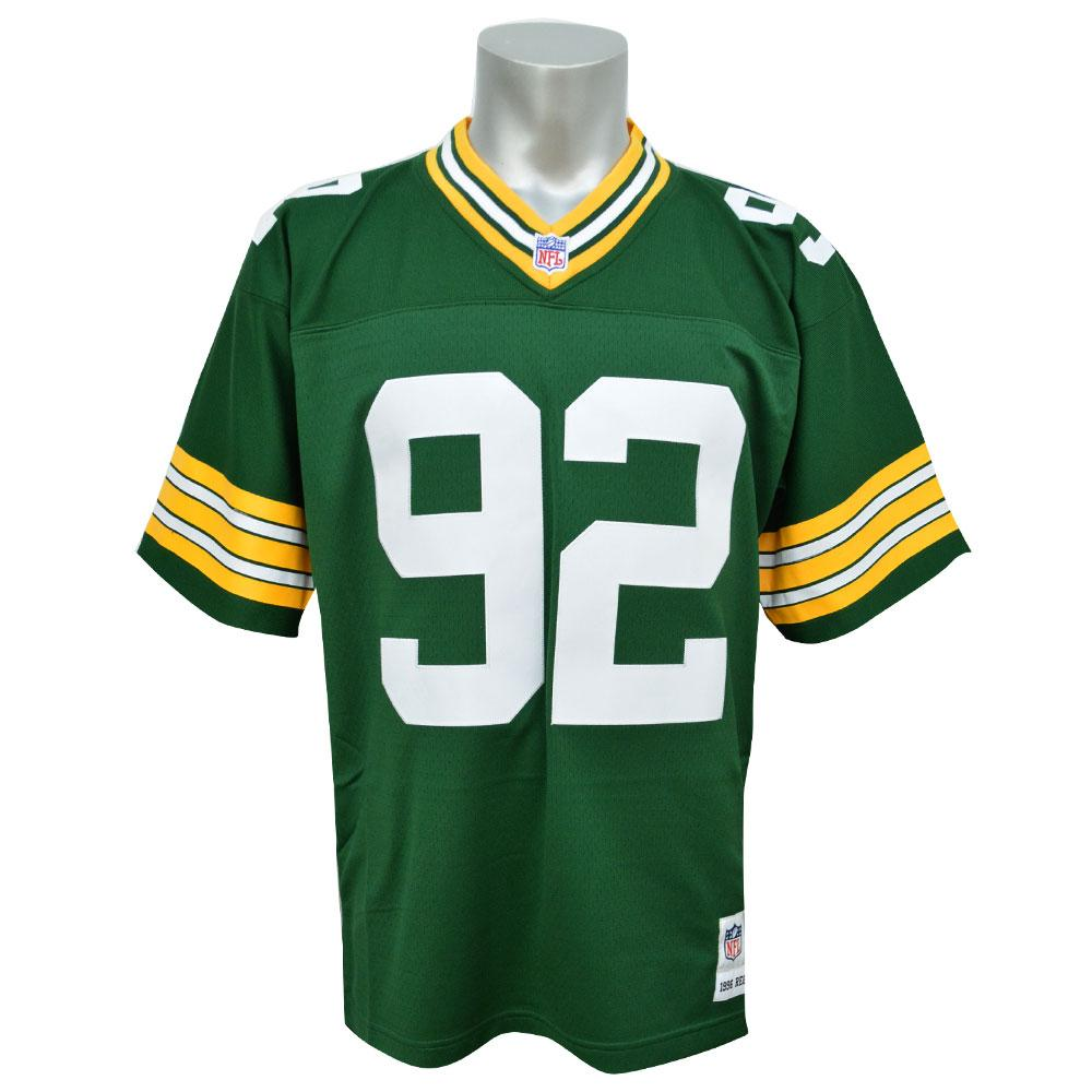 huge selection of db58c 24925 NFL Packer Reggie white jerseys Trowback Replica jerseys Mitchell &Ness