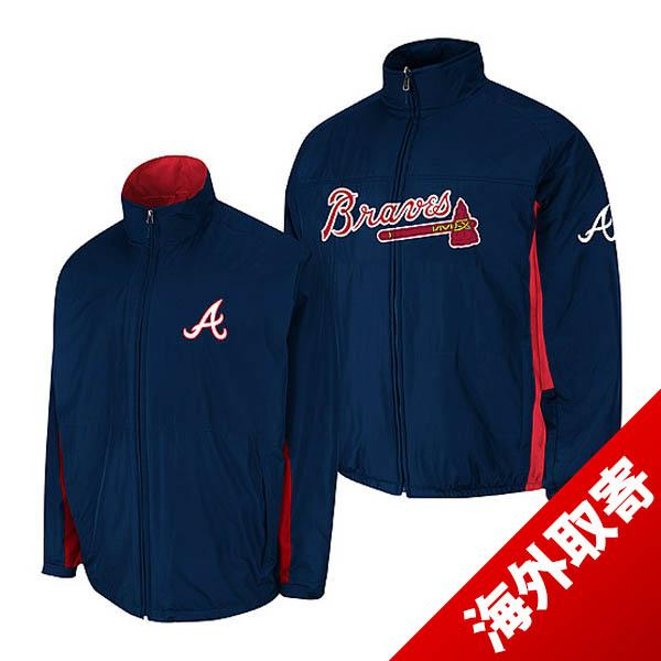 MLB Atlanta Braves jacket Navy majestic /Majestic (On-Field the Authentic Triple Climate-in-1 Jacket)