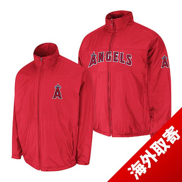 MLB Angels jacket red majestic /Majestic (Authentic Triple Climate-in-1 On-Field Jacket)