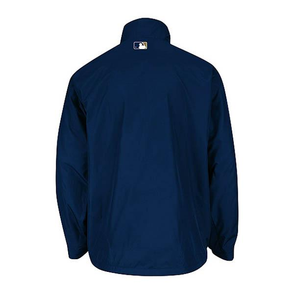 MLB Brewers jacket gold / Navy majestic /Majestic (Authentic Triple Climate-in-1 On-Field Jacket)