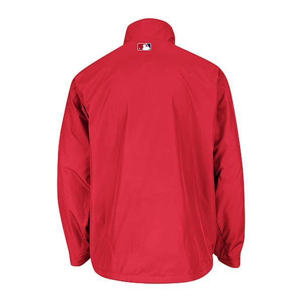 MLB Mets jacket red majestic /Majestic (On-Field the Authentic Triple Climate-in-1 Jacket)