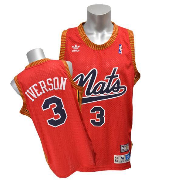 NBA 76ers アレン・アイバーソン ユニフォーム Nats-Red Adidas