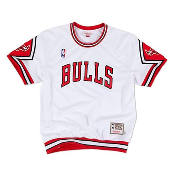 NBA ブルズ Tシャツ 1989-90 ミッチェル&ネス Authentic Shooting Shirt【1811MNセール】