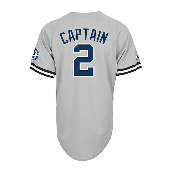 MLB NBA NFL Goods Shop  -MLB Yankees Derek Jeter Jersey road majestic   Majestic (Retirement of Captain w Commemorative Replica Jersey Patch)  194ad280831