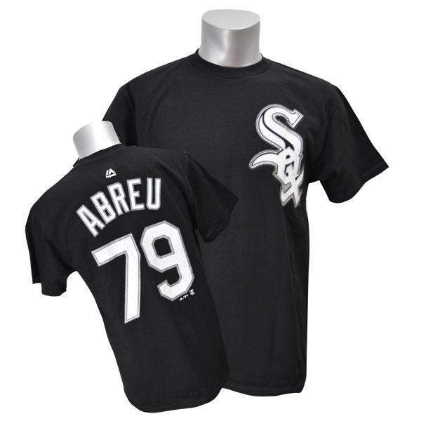 あす楽対応 MLBファン必須の定番プレイヤーTシャツ リニューアル記念メガセール MLB ホワイトソックス 期間限定お試し価格 ホセ アブレイユ マジェスティック 人気の定番 ブラック Player Tシャツ