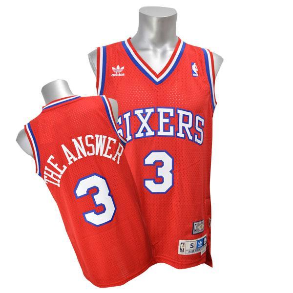 e881fab7e258 MLB NBA NFL Goods Shop  Adidas NBA 76ers   3 Allen Iverson Nickname ...