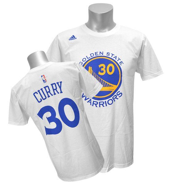 amazonka przystojny nowy przyjazd Throw away NBA Warriors Stephane curry; fin curry T-shirt white Adidas NET  NUMBER T-shirt