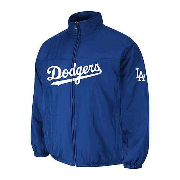 MLB Los Angeles Dodgers Authentic Double Climate On-Field jacket (blue) Majestic