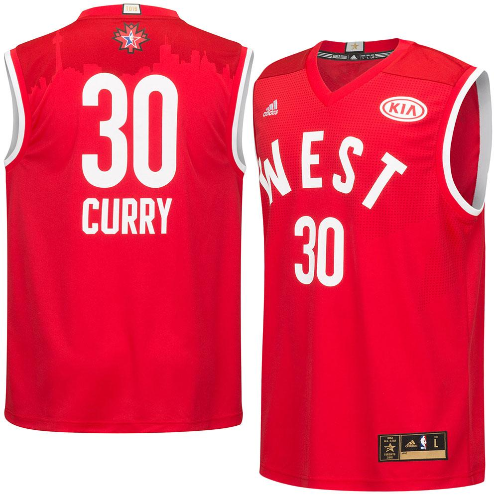 c2cf5b5b6 ... reduced nba western conference stephen curry 30 2016 all star game  replica jersey adidas adidas red