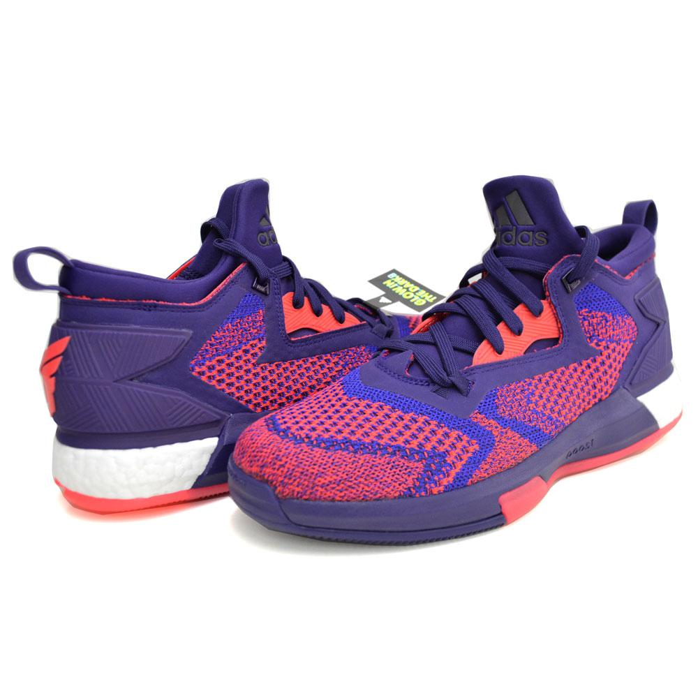 best sneakers a9675 ec855 LILLARD Damian-relaxed D related 2 boost Prime knit ASG adidas Adidas dark  purple  blast paper  shock Red