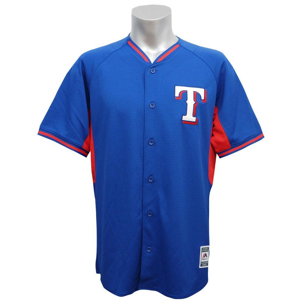 MLB レンジャーズ ファッション レプリカ バッティング プラクティス ユニフォーム マジェスティック/Majestic