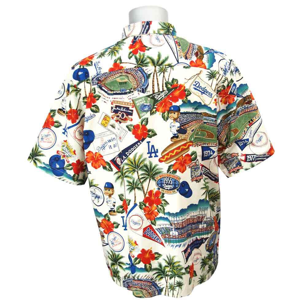 MLB Dodgers Hawaiian Shirt 2015 Reyn Spooner