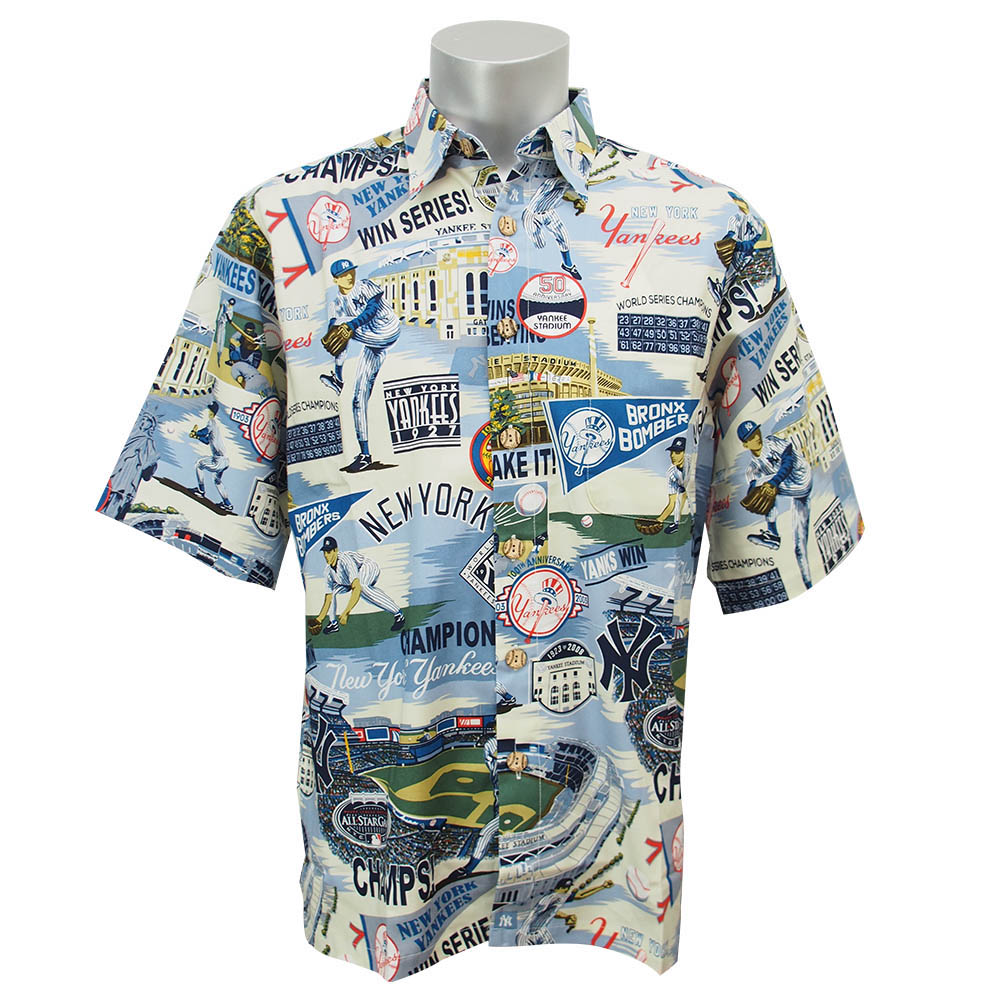 f0d97704 MLB NBA NFL Goods Shop: MLB Yankees Hawaiian Shirt 2016 Reyn Spooner ...