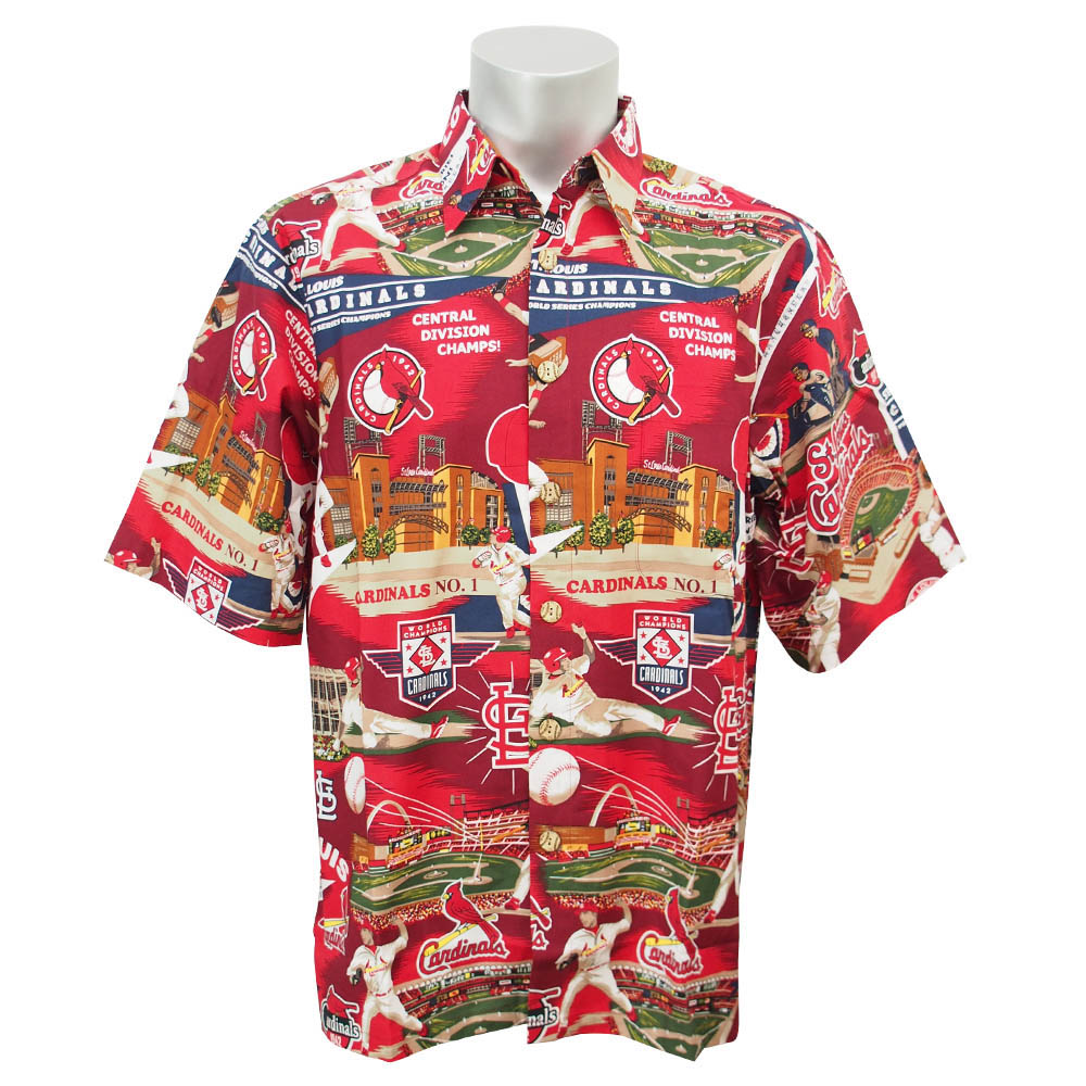 MLB NBA NFL Goods Shop  MLB Cardinals Hawaiian Shirt 2016 Reyn ... 1c7d73c32
