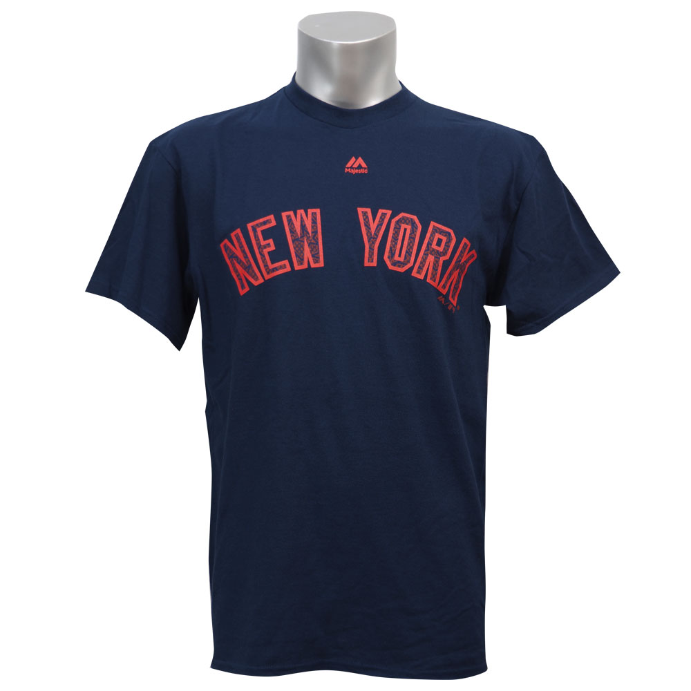 MLB ヤンキース 2016 スターズ&ストライプス ワードマーク Tシャツ マジェスティック/Majestic【1910セール】【1112】