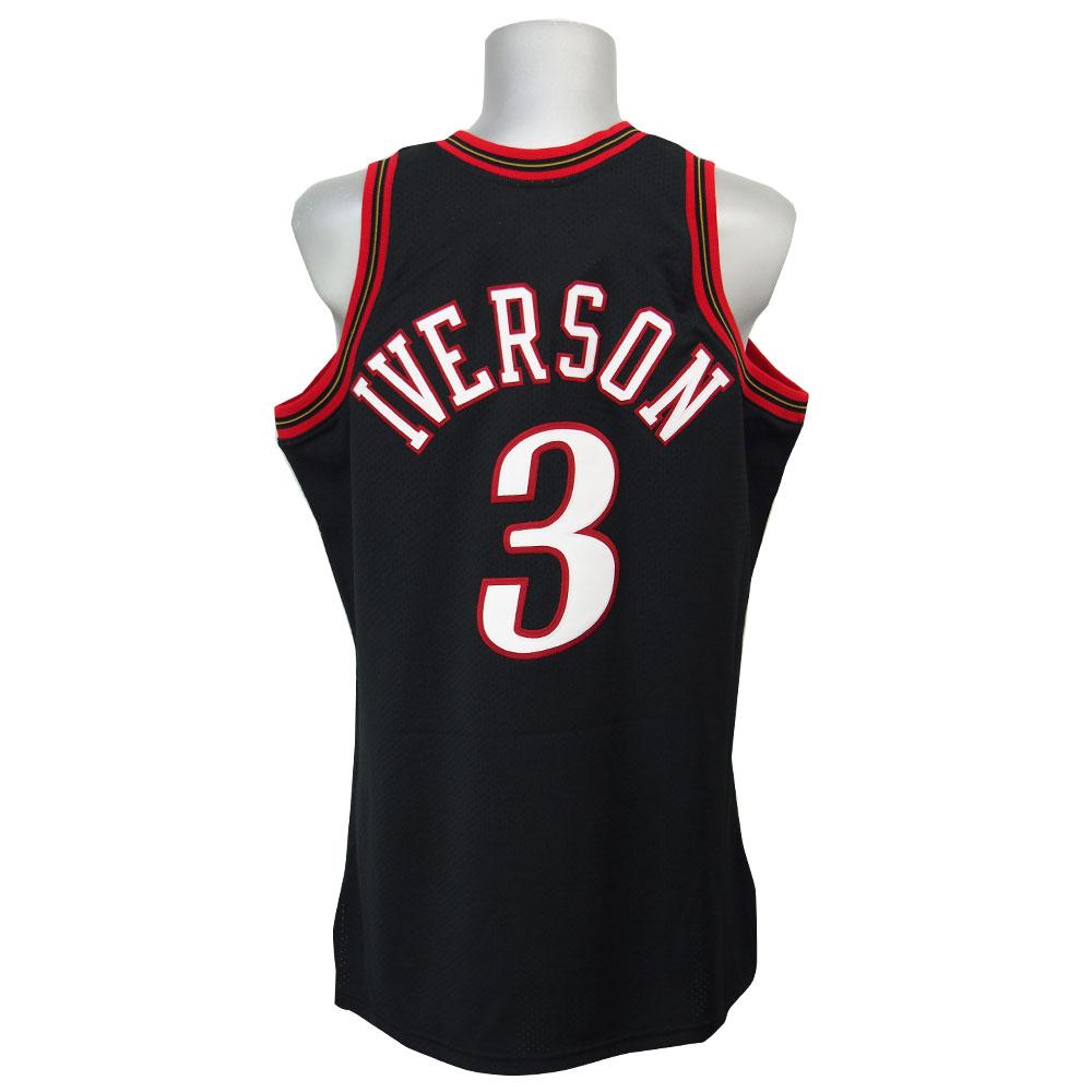 7e695b736135 NBA 76ers Allen Iverson throw back authentic uniform Mitchel  ness   Mitchell   Ness