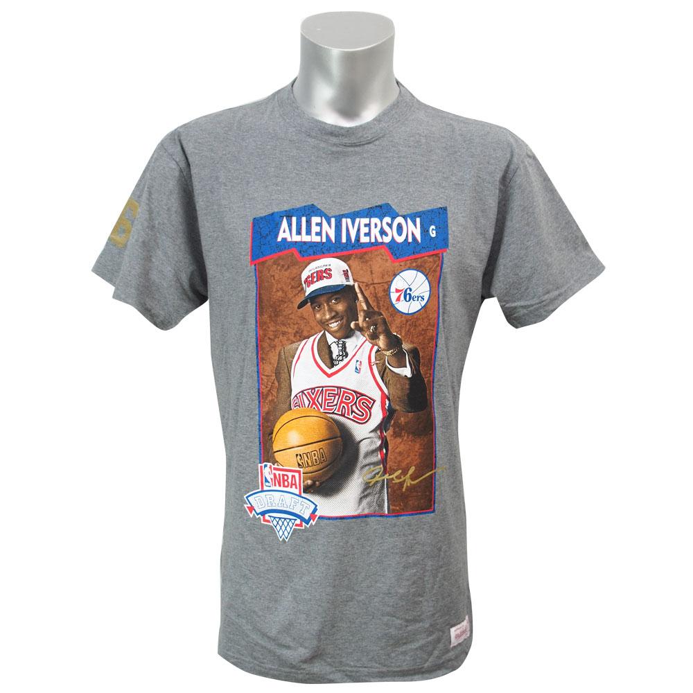 online store 6c7f4 93684 NBA 76ers Allen Iverson draft pick T-shirt Mitchel &ness /Mitchell & Ness