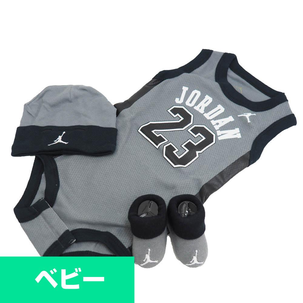 e57f54a435d5 Nike Jordan Nike Jordan Baby Clothes 3 Point Set Jersey Gray