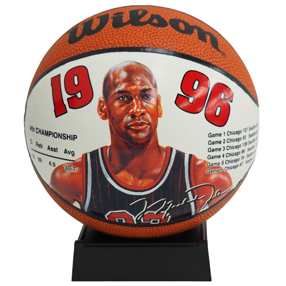 NBA ブルズ マイケル・ジョーダン ミニ バスケットボール 1996 ウィルソン/Wilson レアアイテム BSKTBLL特集