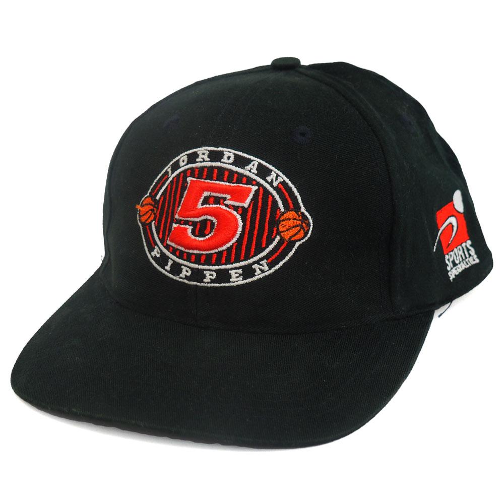 NBA ブルズ ジョーダン&ピッペン 5th チャンピオン キャップ/帽子 Sports Specialties ブラック レアアイテム【1910価格変更】【191028変更】