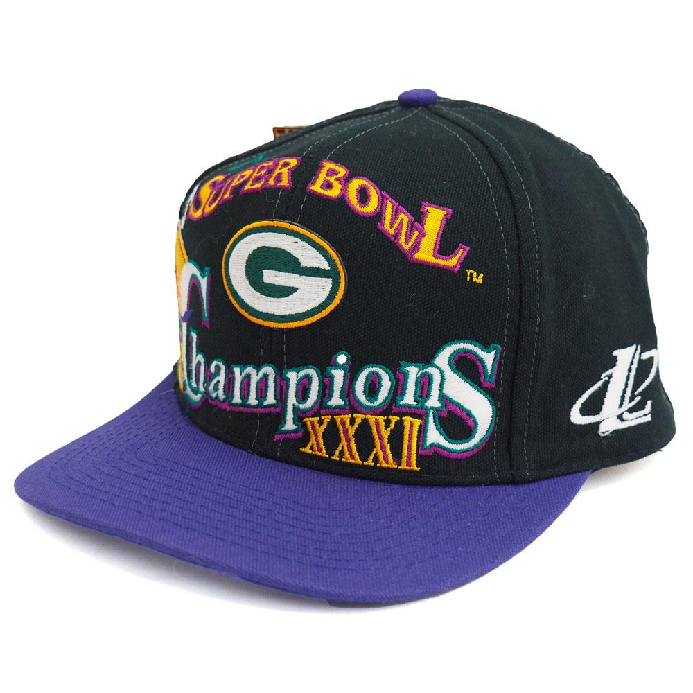 NFL パッカーズ 1997 スーパーボウル XXXI チャンピオン ロッカールーム キャップ/帽子 ブラック レアアイテム【1910価格変更】【191028変更】