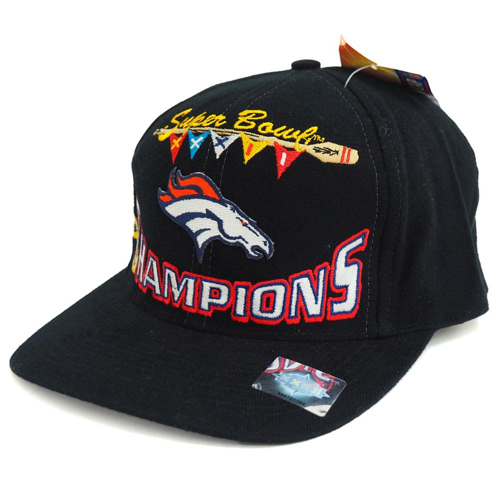 NFL ブロンコス 1998 スーパーボウル XXXII チャンピオン ロッカールーム キャップ/帽子 ブラック レアアイテム【1910価格変更】【191028変更】