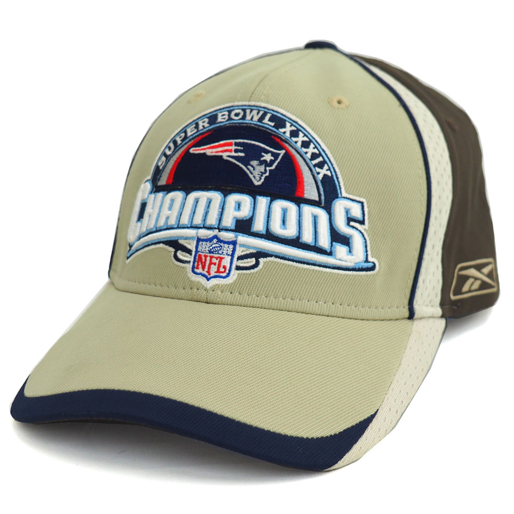 NFL Patriots 2005 Super Bowl XXXIX locker room Cap Reebok  Reebok beige d9e246c8d