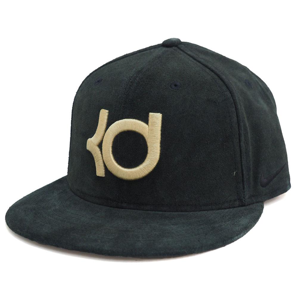 Nike KD KENIKE Kevin Durant suede Snapback Cap Black