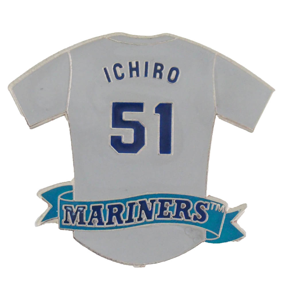hot sale online c9ed9 cb98c MLB (Major League) Mariners Ichiro jersey pin badge Peter D bit /Peter  David road