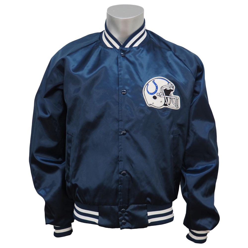 finest selection 468e7 e3aee NFL Colts authentic satin jacket chalk line /Chalk Line blue rare item