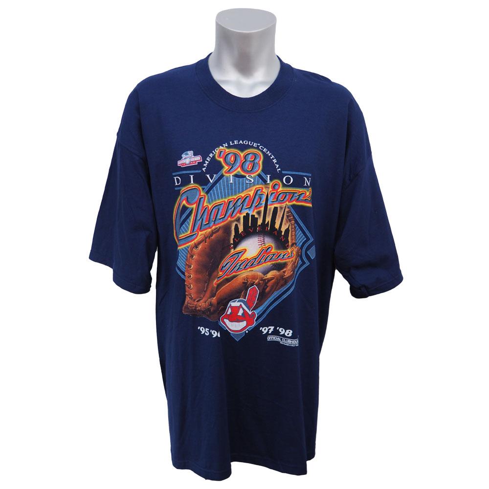 MLB インディアンス 1998年度 ディビジョン 優勝記念Tシャツ Pro Player ネイビー レアアイテム【1910価格変更】【1112】