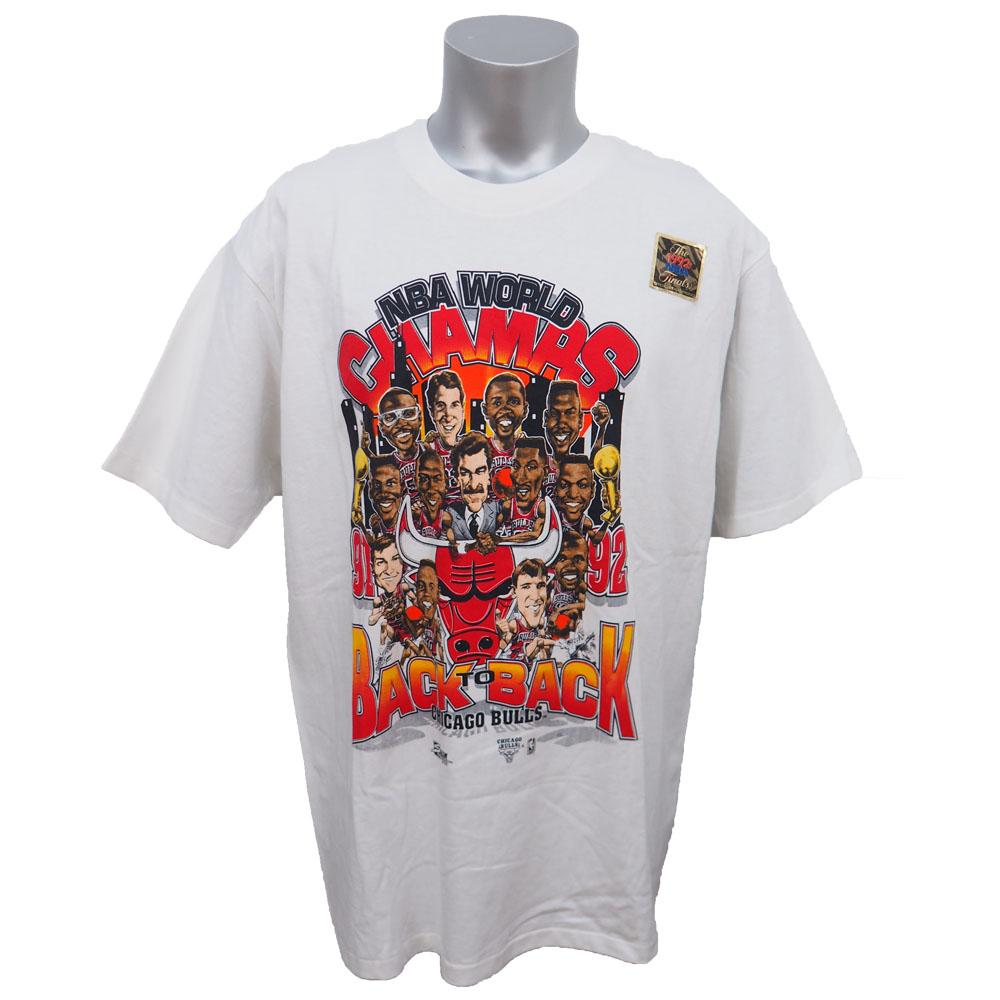 NBA ブルズ 1992年 ファイナル 2連覇記念 カリカチュアTシャツ Salem ホワイト レアアイテム【1910価格変更】