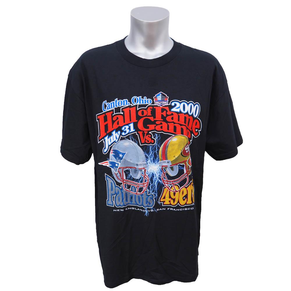 スーパーボウル進出 NFL 49ers vs ペイトリオッツ 2000年度 ホール・オブ・フェイム ゲーム Tシャツ Logo Athletic ブラック レアアイテム【1910価格変更】