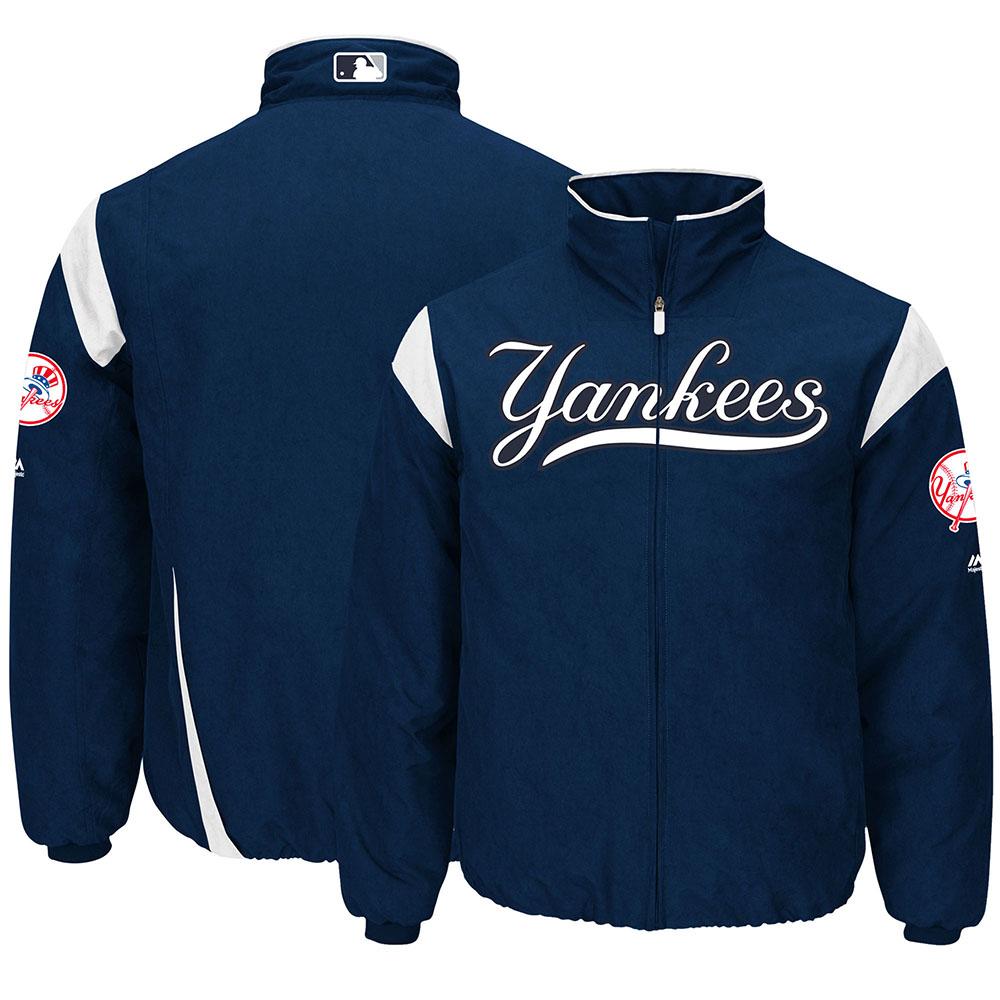 MLB ヤンキース オーセンティック オンフィールド プレミア ジャケット マジェスティック/Majestic Navy/White