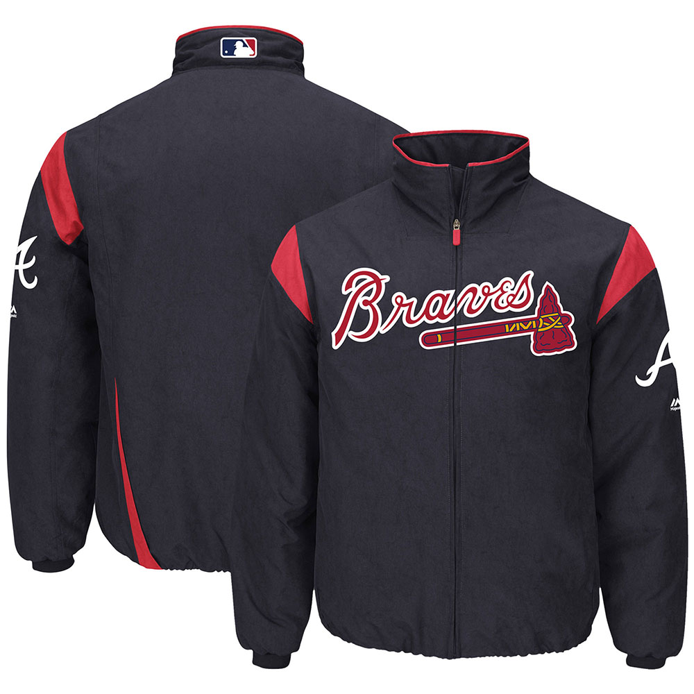 MLB ブレーブス オーセンティック オンフィールド プレミア ジャケット マジェスティック/Majestic ネイビー