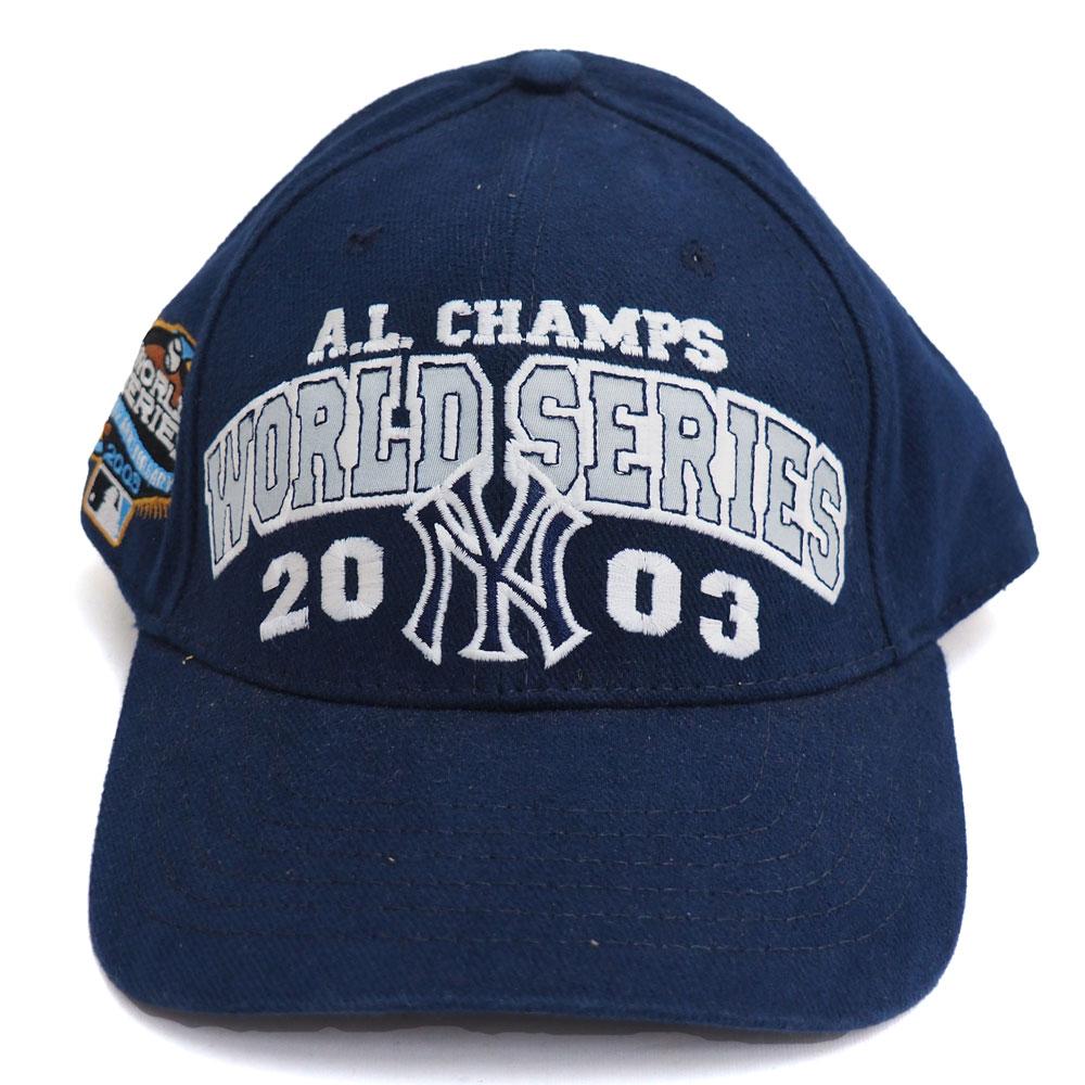ヤンキース キャップ MLB 2003年度 ワールドシリーズ ア・リーグ 優勝記念 ネイビー レアアイテム【1910価格変更】【191028変更】