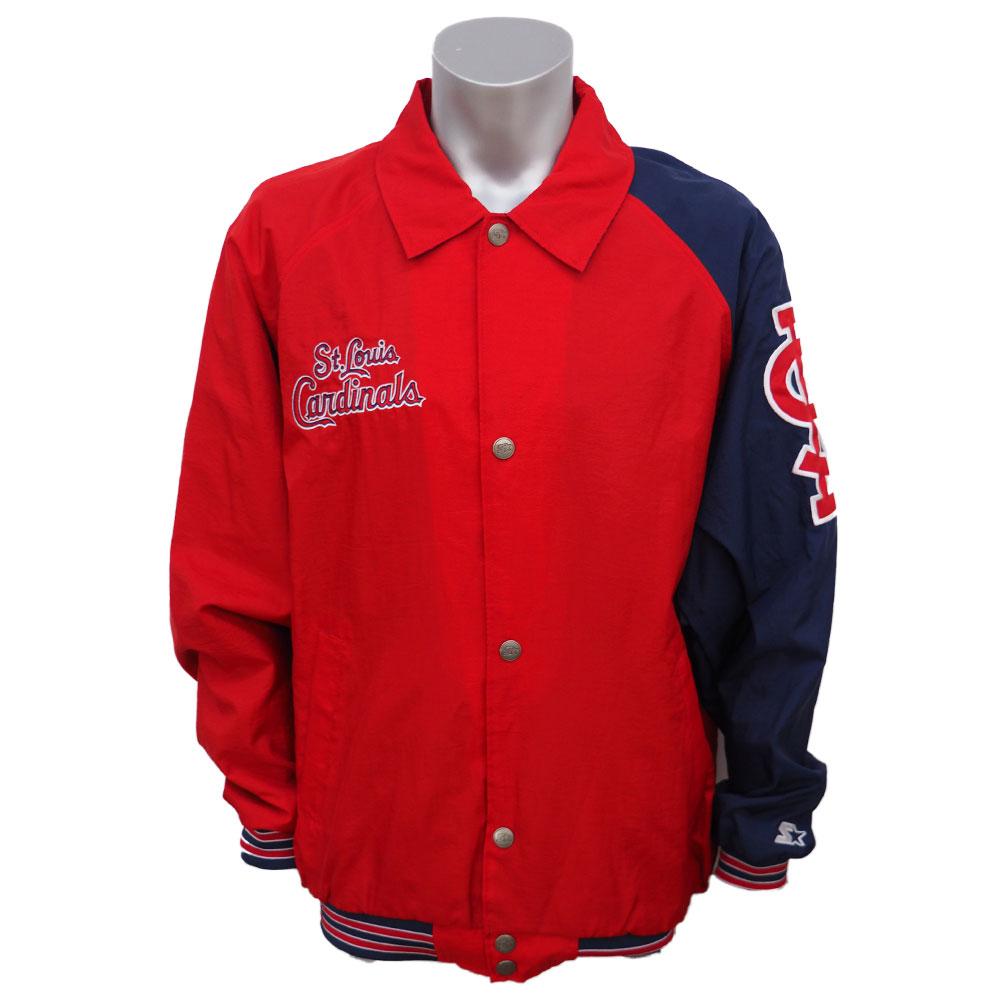 【リニューアル記念メガセール】MLB カージナルス ライトウェイトジャケット/スタジャン STARTER レッド/ネイビー
