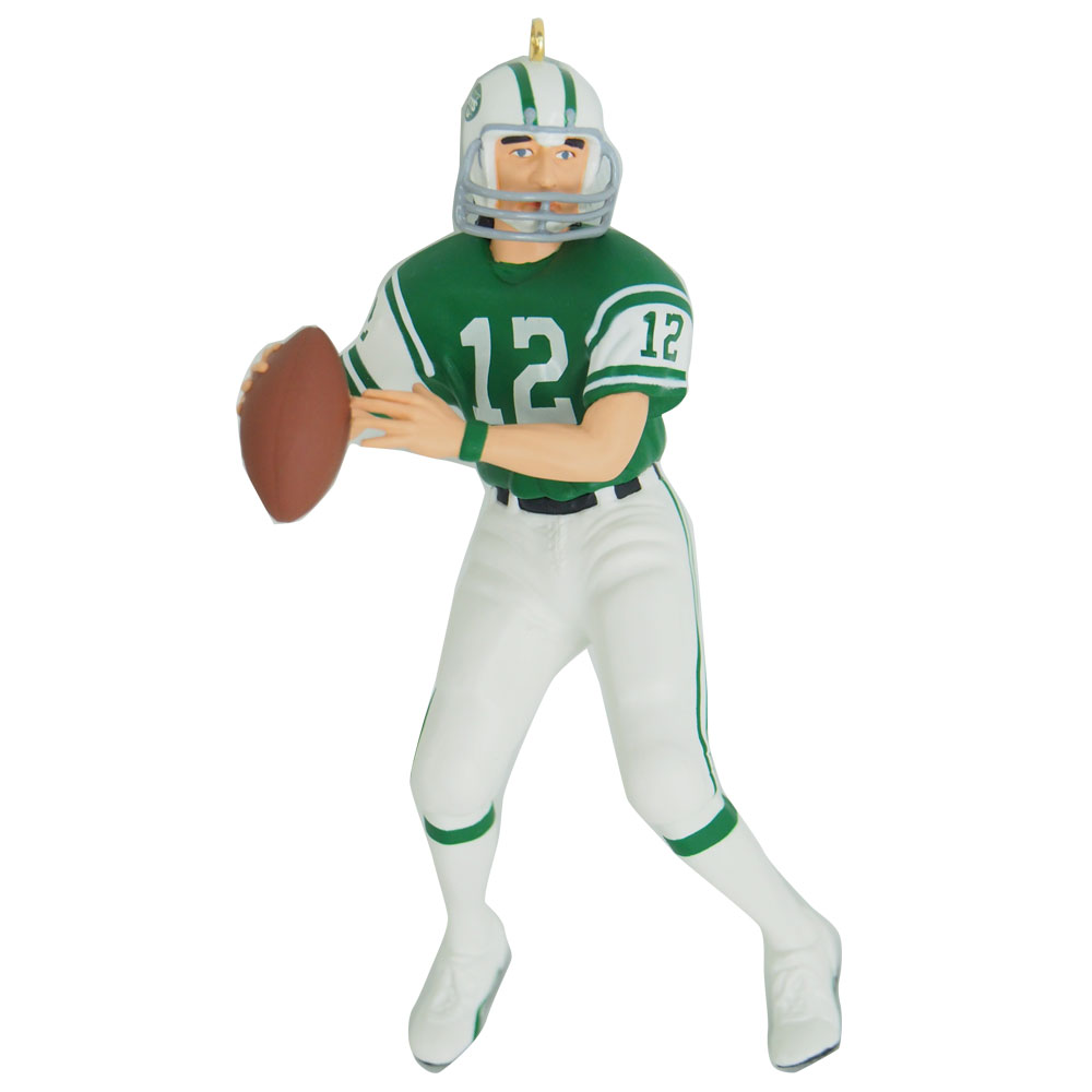 new concept ac568 9115e NFL jets Joe Namath Christmas ornament Hallmark