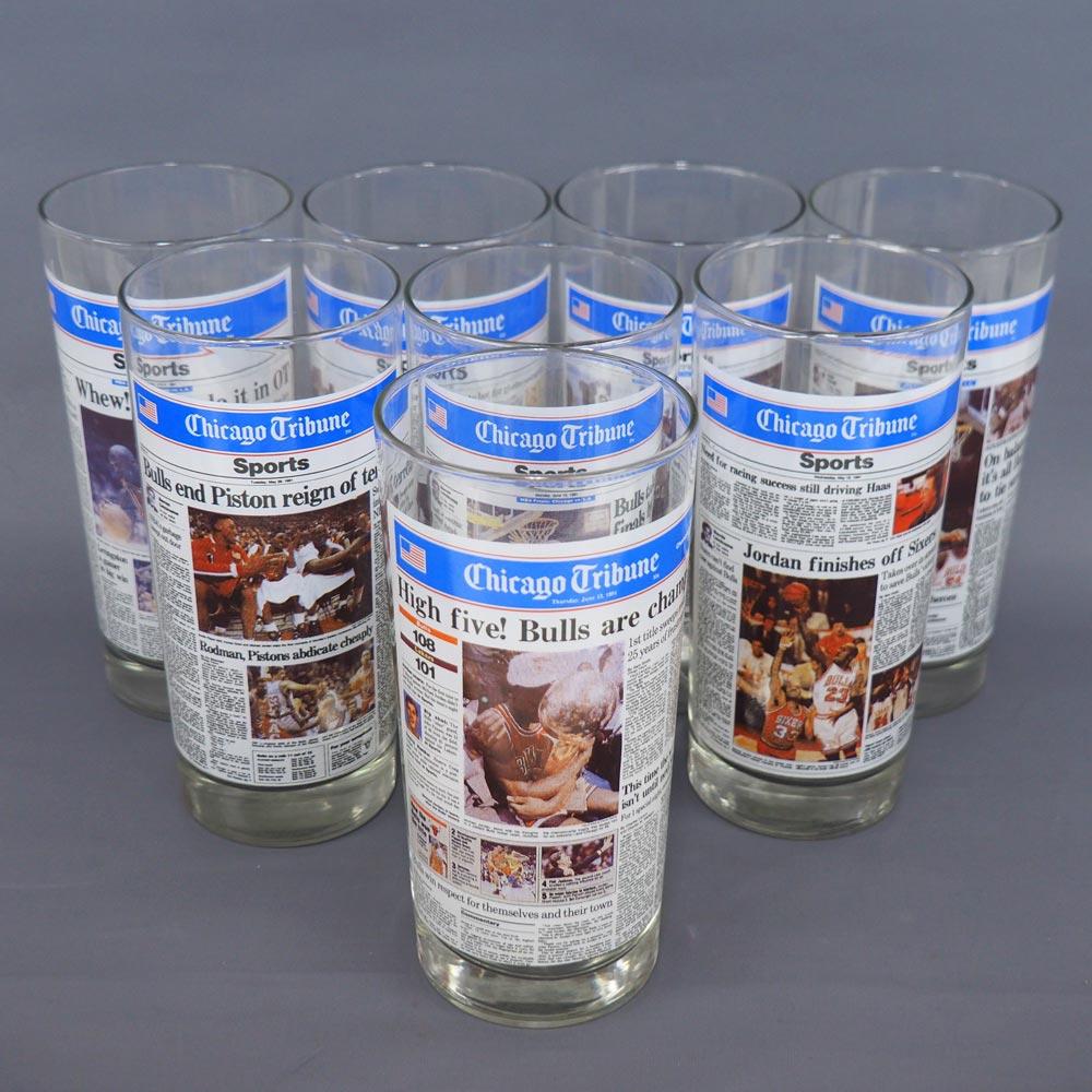 NBA ブルズ 1991 コメモラティブ グラス 8個セット レアアイテム, フラワーショップBlue candle:7ff4d9c9 --- laveana.jp