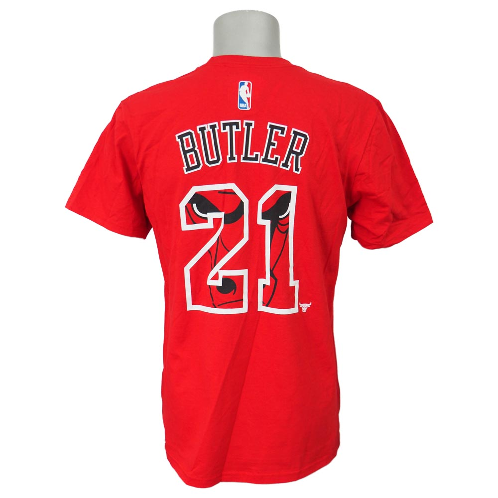 brand new a683a da917 NBA Bulls Jimmy Butler over size buran dead name & number T-shirt Adidas  /Adidas red special sale