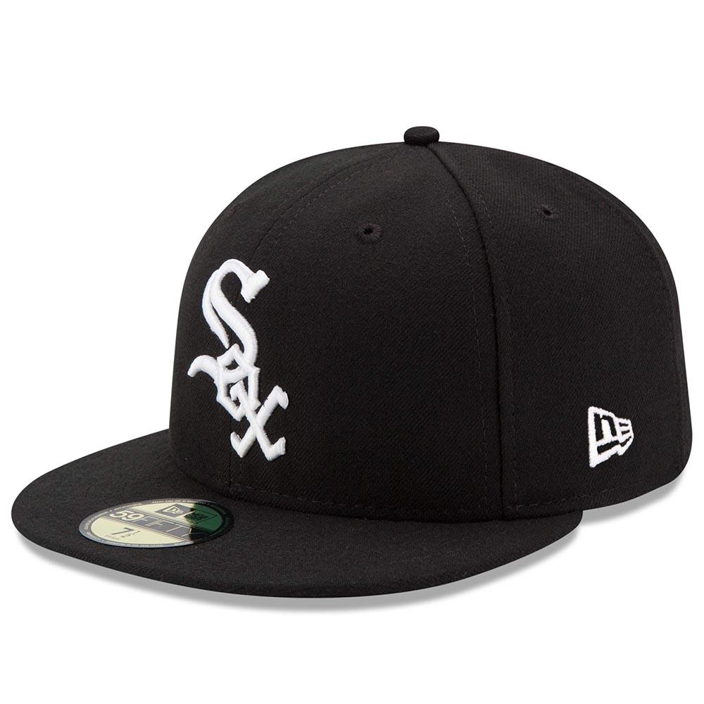 メジャー選手が試合中に着用するオーセンティックモデル ホワイトソックス キャップ ニューエラ NEW ERA 中古 MLB 新作製品、世界最高品質人気! 特集 59FIFTY オンフィールド ゲーム オーセンティック 平つば