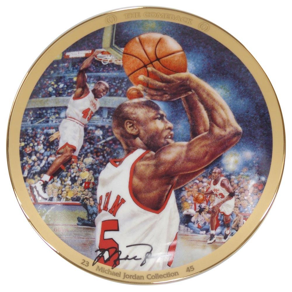 NBA ブルズ マイケル・ジョーダン コレクター プレート ザ・カムバック (3989B) Upper Deck レアアイテム【1910価格変更】