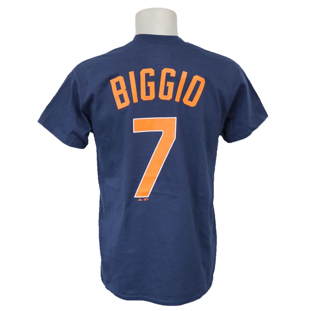 MLB アストロズ クレイグ・ビジオ クーパーズタウン ネーム & ナンバー Tシャツ マジェスティック/Majestic ネイビー
