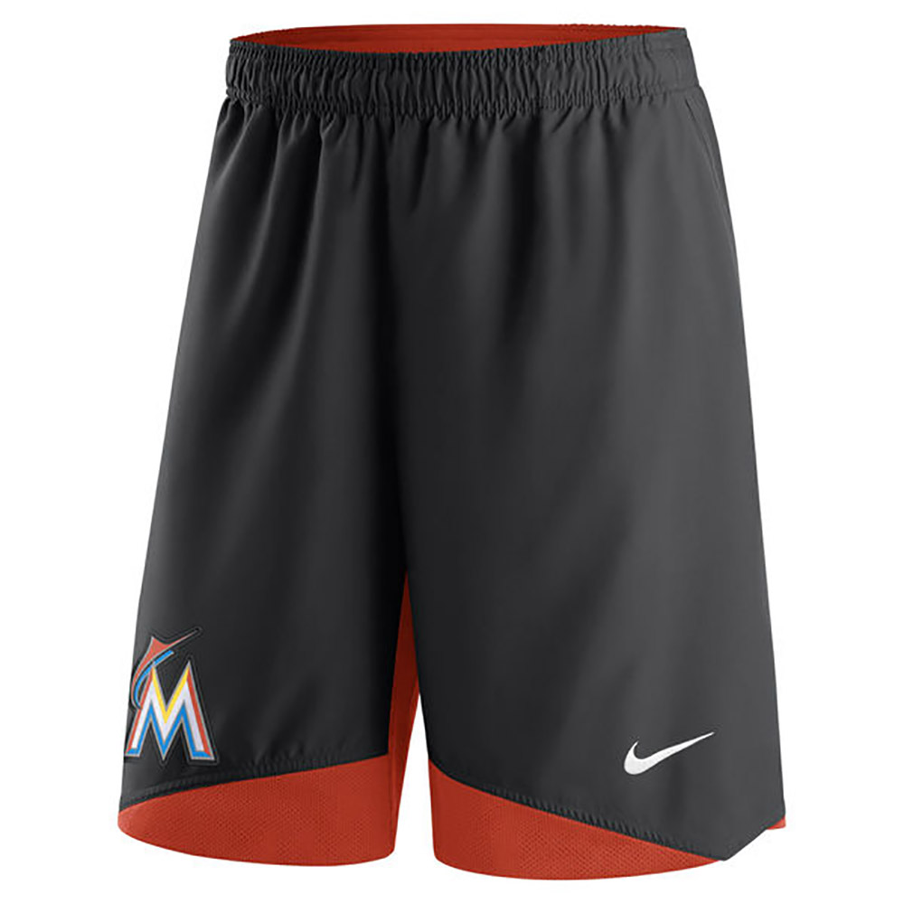MLB マーリンズ オーセンティック コレクション ドライ ウーブン パフォーマンス ショーツ ナイキ/Nike ブラック【1910価格変更】