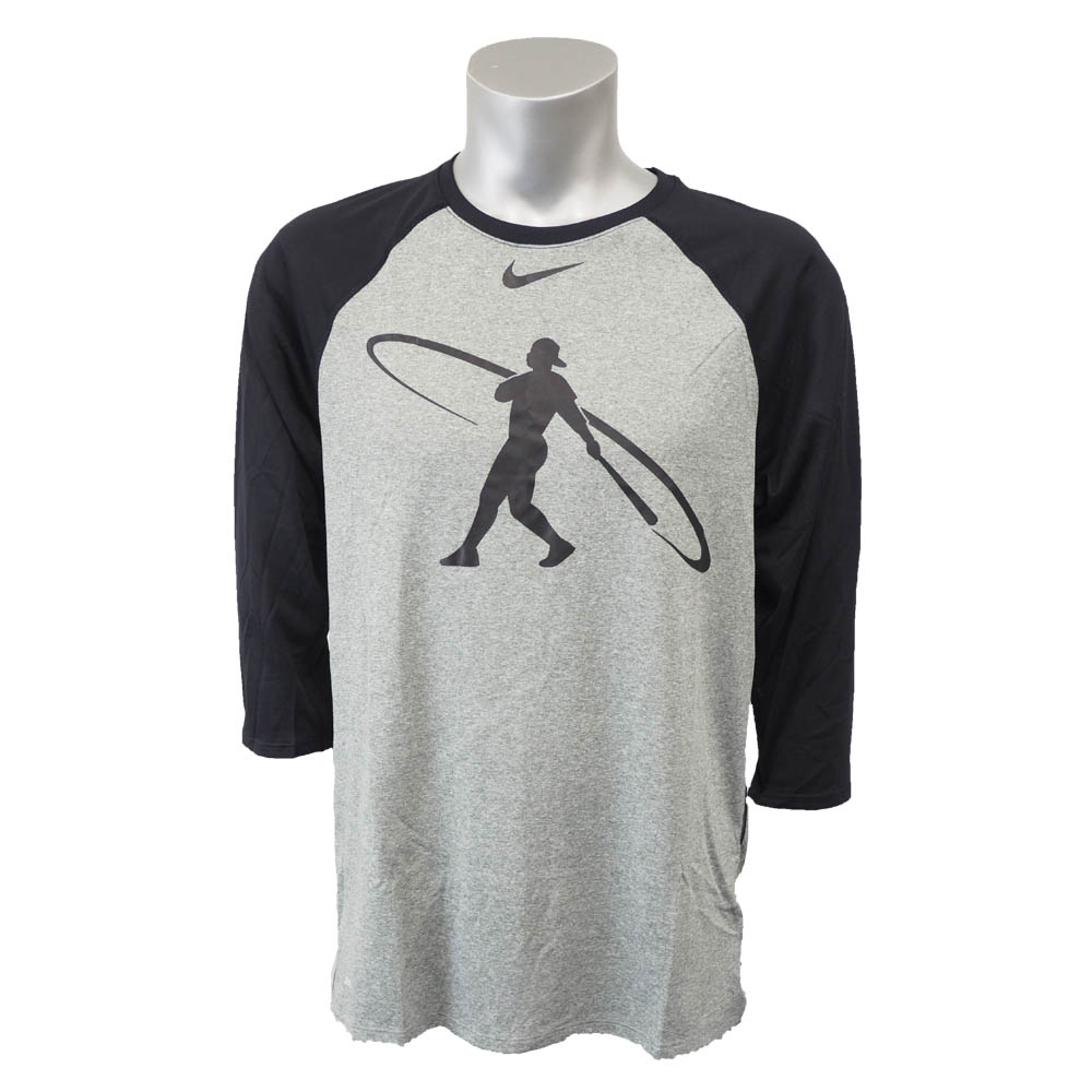 Ken Griffey JR. Swingman legend baseball 3 4 T-shirt Nike  Nike black  807 5c43b549e