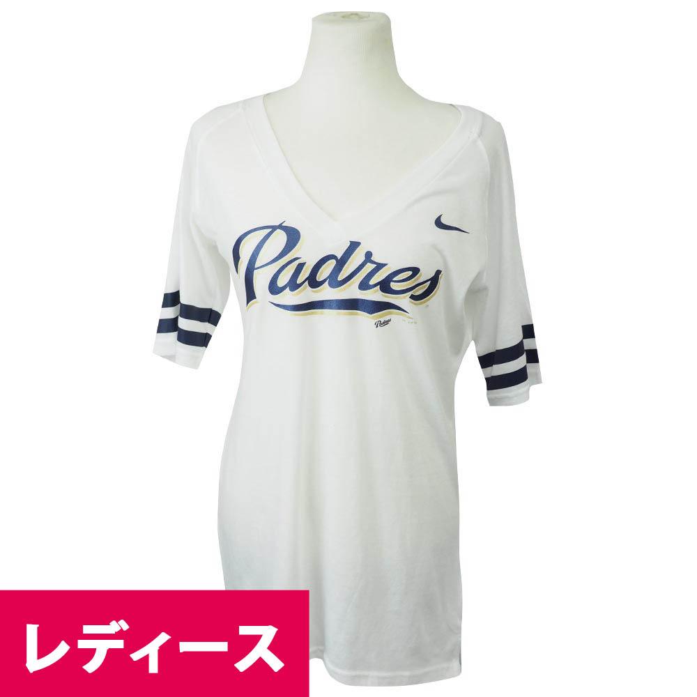 MLB パドレス ファン レディース Tシャツ ナイキ/Nike ホワイト【1910価格変更】